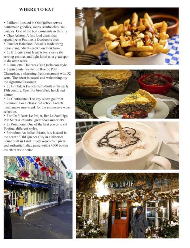 QUEBEC Where to eat