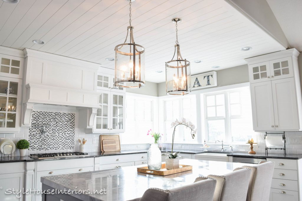 lantern lights over kitchen island and bath st louis how to figure spacing for pendants - style house ...