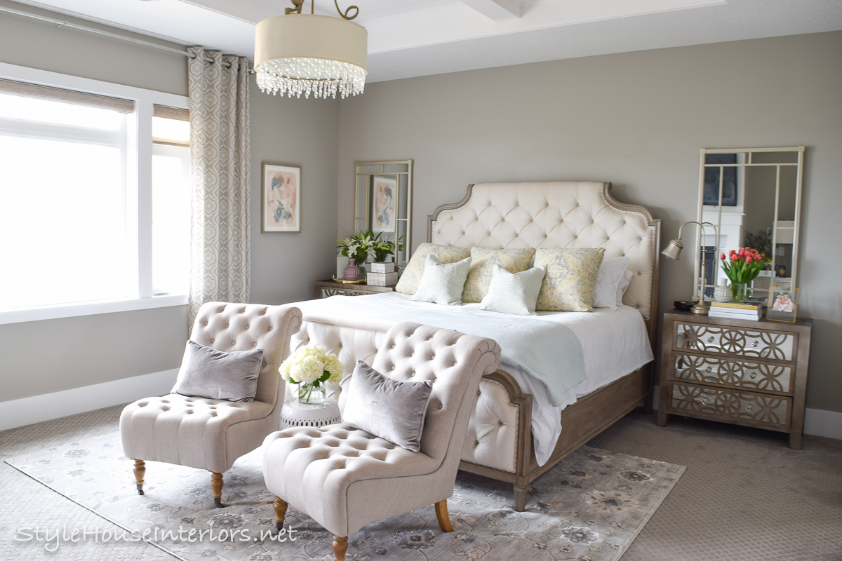 Spring Tour Ideas On How To Style Your Bedside Table Style House Interiors