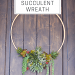Diy Modern Faux Succulent Wreath Style House Interiors