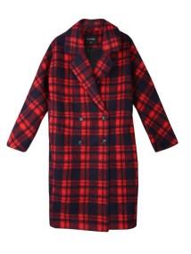 TOP SECRET top secret γυναικειο καρο παλτο