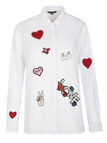TOP SECRET top secret πουκαμισο με patches