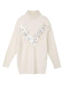 TOP SECRET top secret πουλοβερ με παγιετες