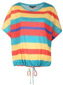 TOP SECRET t-shirt με πολυχρωμες ριγες