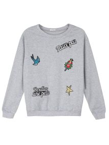 TOP SECRET top secret μπλουζα με patches