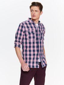 TOP SECRET TOP SECREΤ καρο πουκαμισο