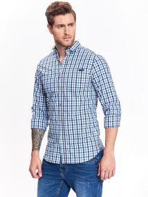 TOP SECRET TOP SECREΤ καρο slim fit πουκαμισο