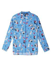 TOP SECRET top secret φλοραλ πουκαμισο