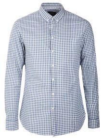 TOP SECRET μπλε καρο slim fit πουκαμισο