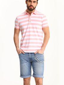 TOP SECRET top secret polo t-shirt με ριγα