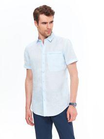 TOP SECRET TOP SECRET slim fit λινο πουκαμισο