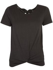 TOP SECRET μαυρο t-shirt με δεσιμο