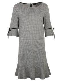 TOP SECRET ασπρομαυρο φορεμα με κορδελα