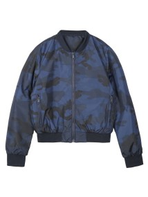 TOP SECRET TOP SECRET camo bomber jacket