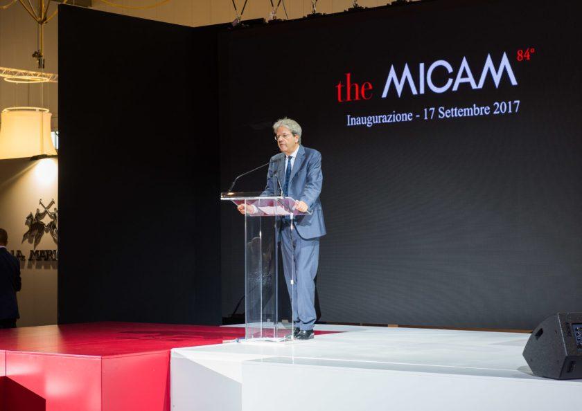 The MICAM - Prime Minister Paolo Gentiloni