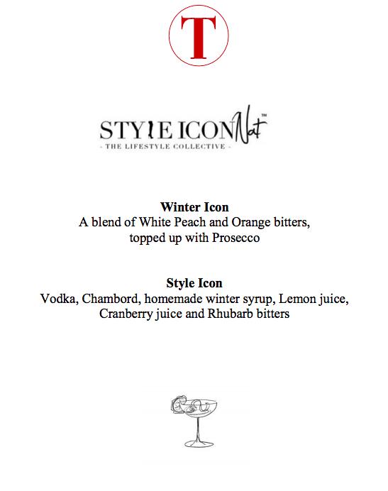 Style Icon Nat - Bespoke Drink Menu