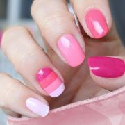 innocently sexy pink nail design