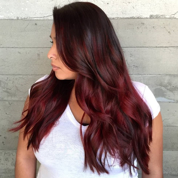 49 of the Most Striking Dark Red Hair Color Ideas