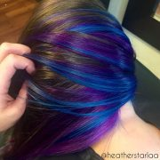 incredible blue and purple hair