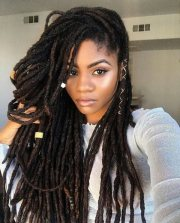 creative short faux locs