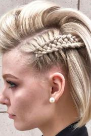 stunning braids short hair