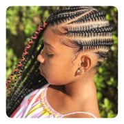 cool triangle box braids