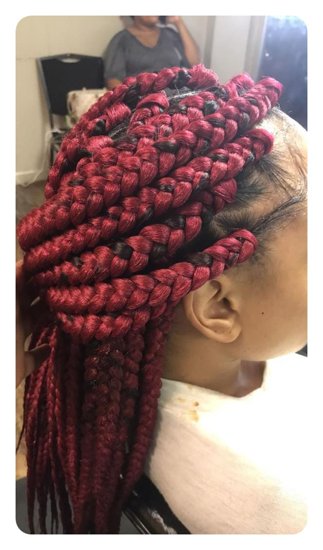 65 Cool Triangle Box Braids That Are So Convenient