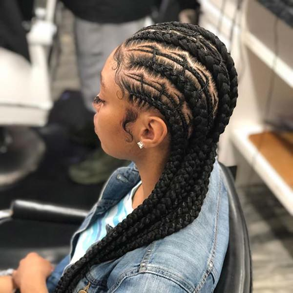 feed in braids hairstyles feed in braid hairstyles. - 20404 feed in braids 1 2 - Ladies: Choose From These Gorgeous Feed in Braid Hairstyles for your New Look