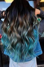 amazing teal color hairstyles