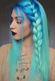 daring blue hair color edgy