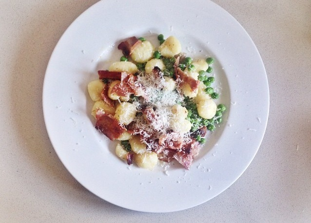 Easy Italian: Gnocchi with Streaky Bacon and Peas
