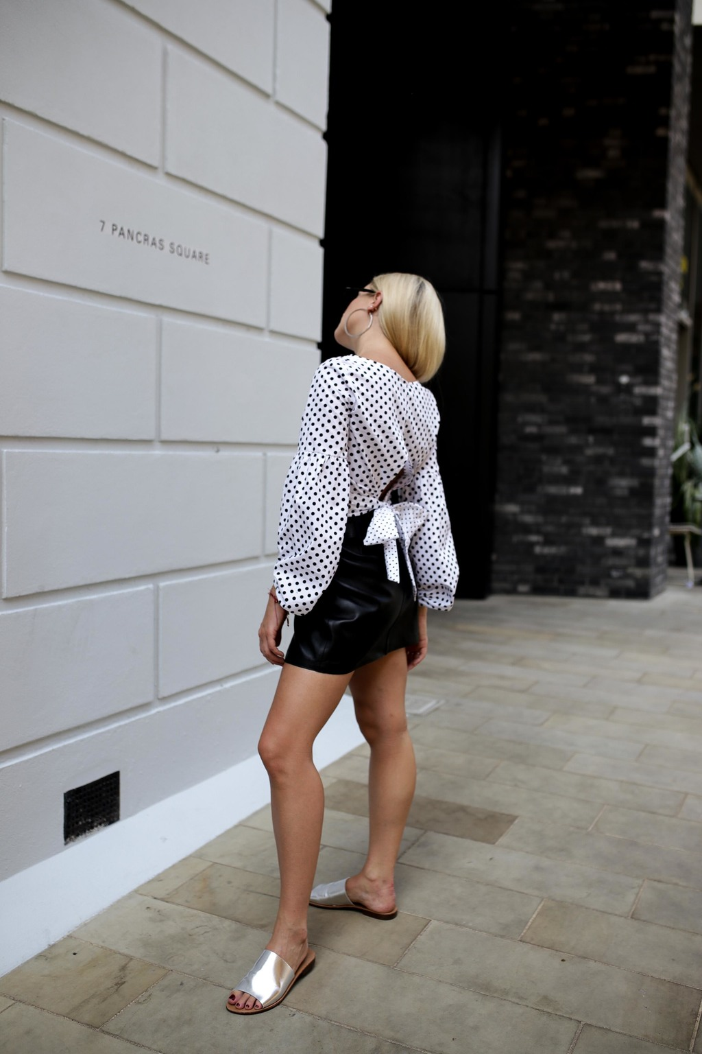 OUTFIT DIARIES: LEATHER SKIRTS & POLKA DOTS