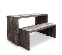 Recycled Table with Bench Seating
