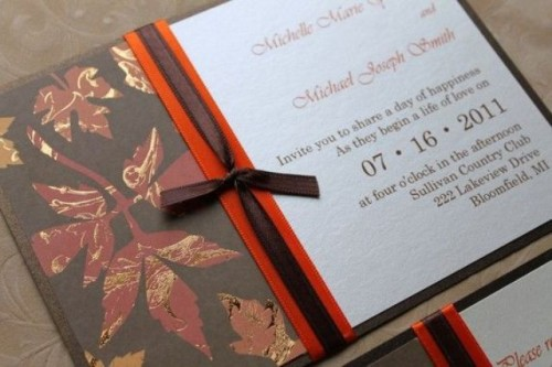 22 Gorgeous Fall Wedding Invitations Ideas  Style Motivation