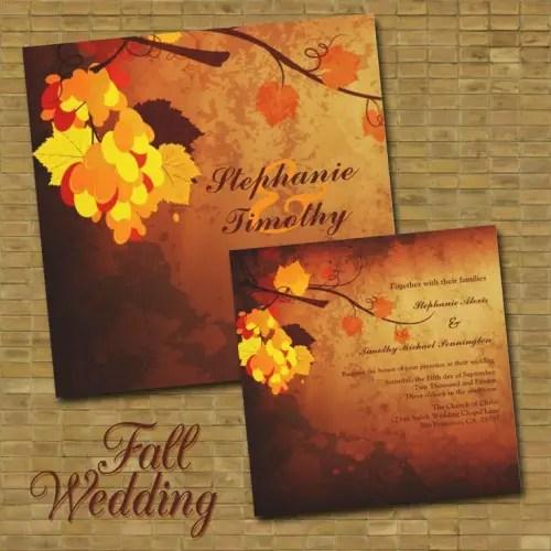 22 Gorgeous Fall Wedding Invitations Ideas  Style Motivation