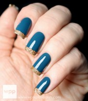 popular fall winter nail design