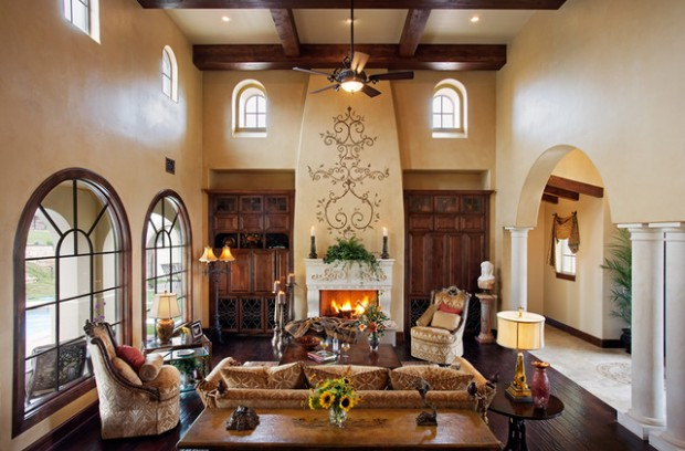 mediterranean living room small arrangements with fireplace 16 gorgeous design ideas in style