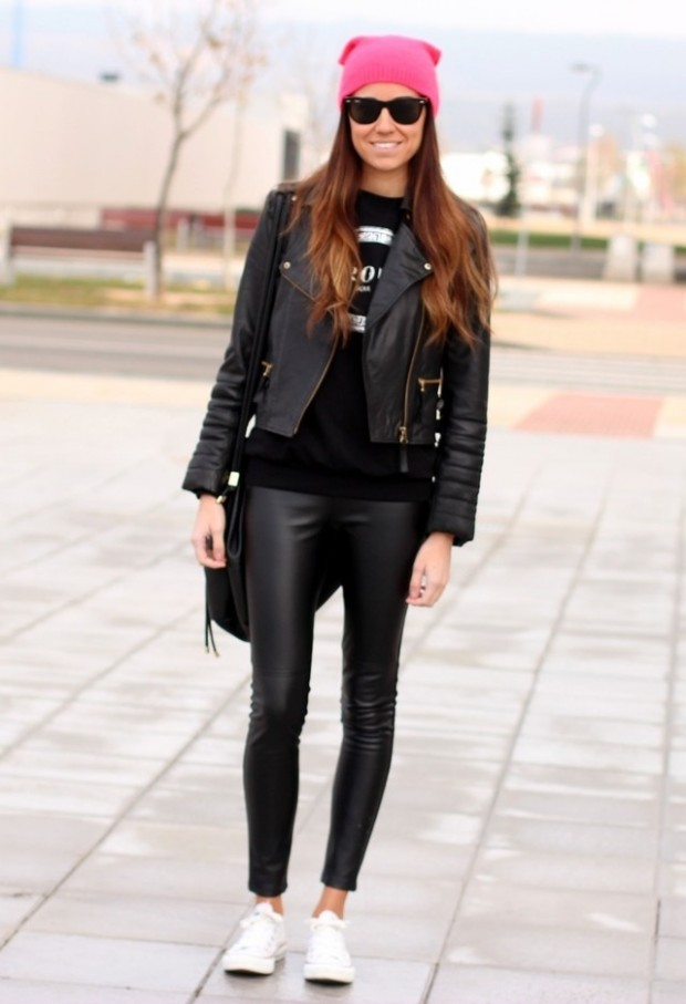 Leather Pants and Leggings for Trendy Outfit  Style