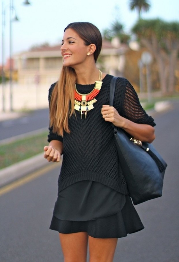 18 Stylish Outfits with Statement Necklaces for Spring and Summer Days  Style Motivation