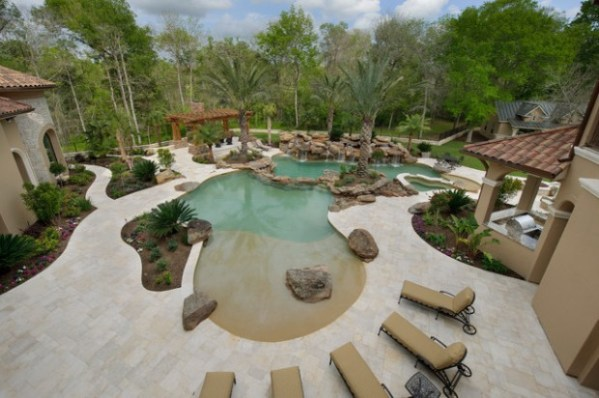 25+ Beach Entry Pool Design Landscaping Ideas Pictures and Ideas on ...