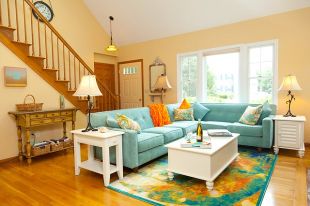 Soft Peach Color Walls for Sophisticated Interior Look  Style Motivation