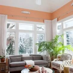 Home Decor Inspiration Living Room Light Blue Walls Soft Peach Color For Sophisticated Interior Look ...