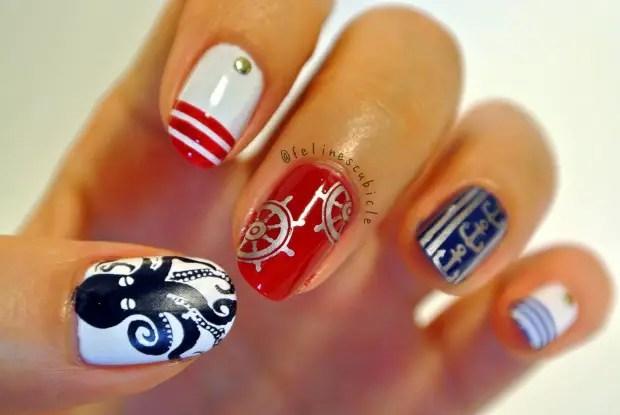 Anchor Design Diy Cute Nautical Nail Art Perfect For Summer