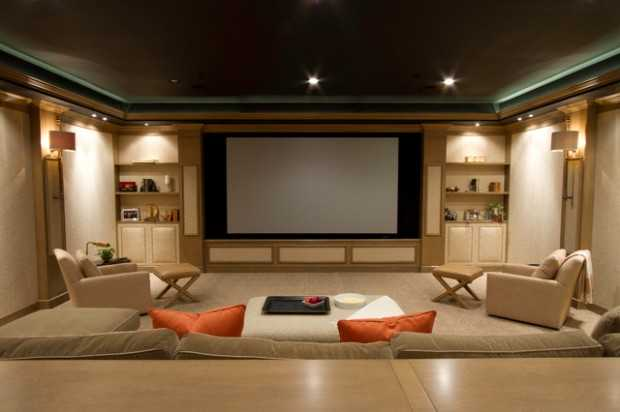 houzz leather sofa living room decorating ideas for with tv over fireplace 23 ultra- modern and unique home theater design ...