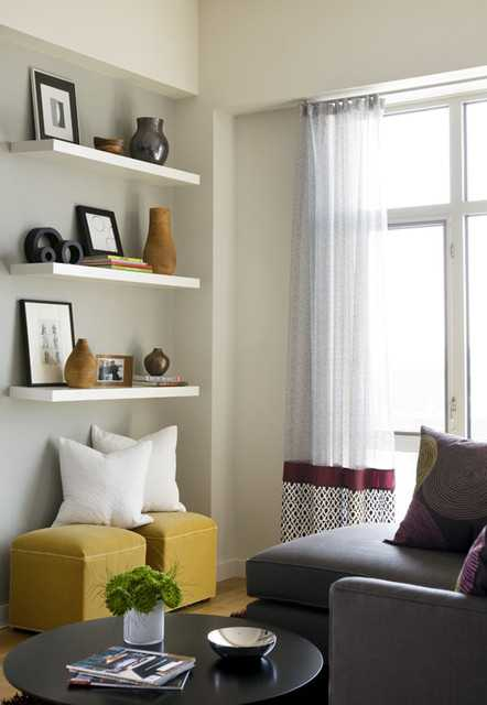 How To Decorate Your Living Room With Floating Shelves