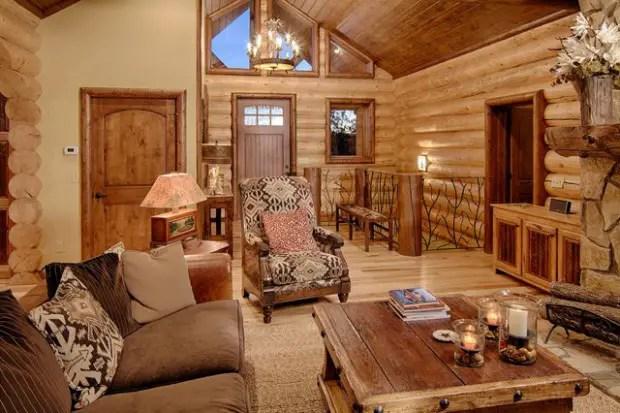 21 Rustic Log Cabin Interior Design Ideas  Style Motivation