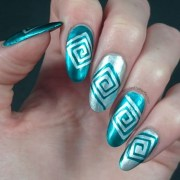 creative and unique teal nail