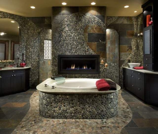 How To Use River Rock Tile In Bathroom Design  Great Ideas