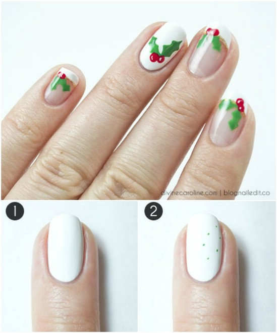 Cute Easy Christmas Nail Art Designs Ideas 2016