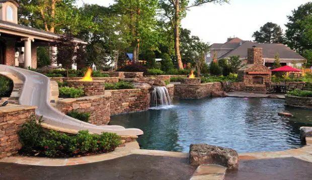 nice beautiful relaxing backyard